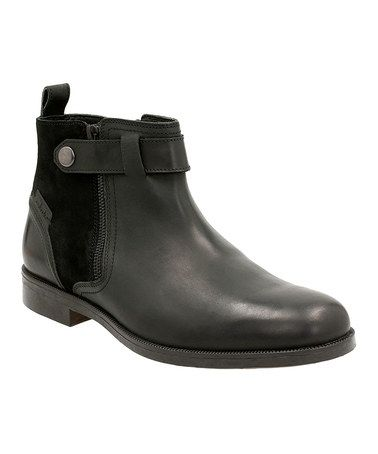 This Black Brocton Mid Leather Boot is perfect! #zulilyfinds