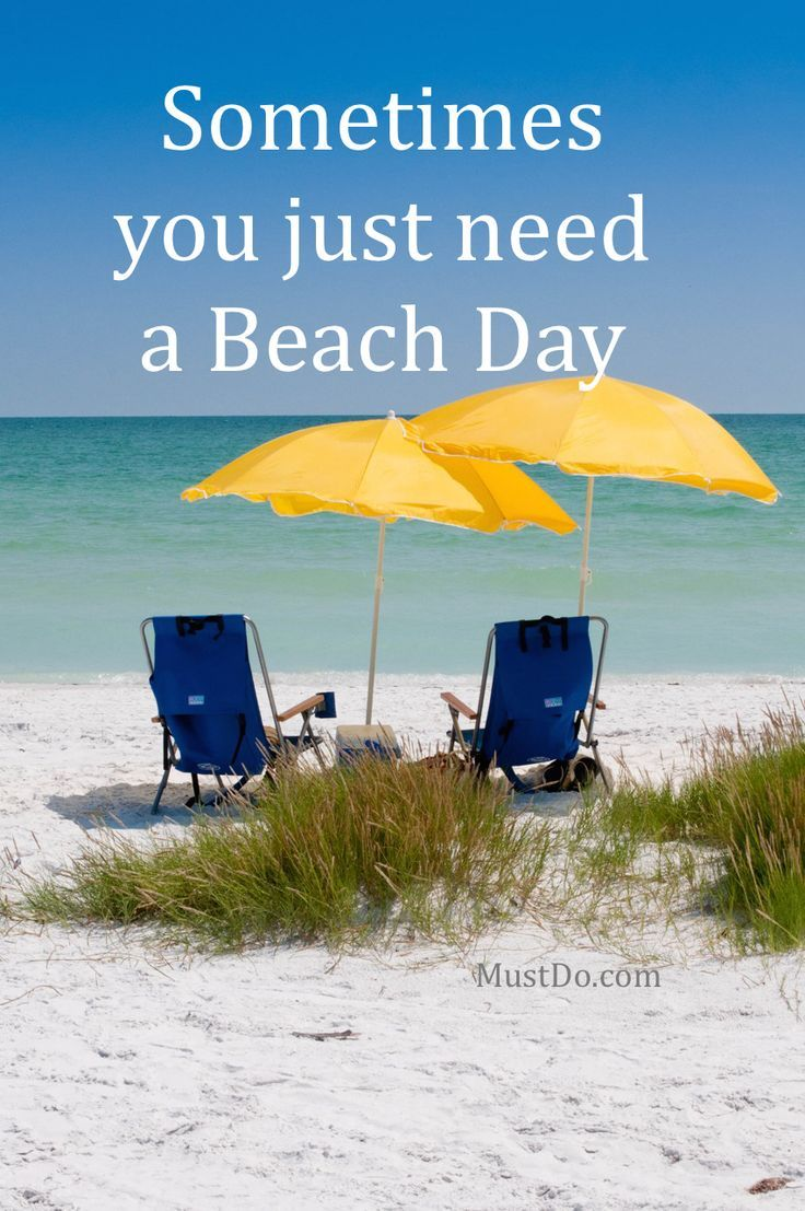 Sometimes you just need a Beach Day. Learn