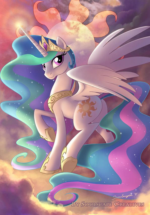 She looks very pretty in this one. I like how her cutie mark is behind her.