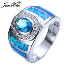 Aquamarine anel de opala feminino 2015 nova charme 925 de prata / anéis de casamento para homens e mulheres RS0011(China (Mainland))