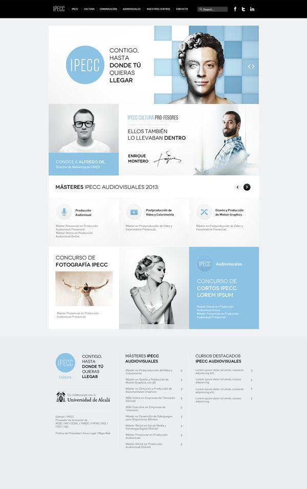 blue, white | #webdesign #it #web #design #layout #userinterface #website #webdesign < repinned by www.BlickeDeeler.de | Take a look at www.WebsiteDesign-Hamburg.de