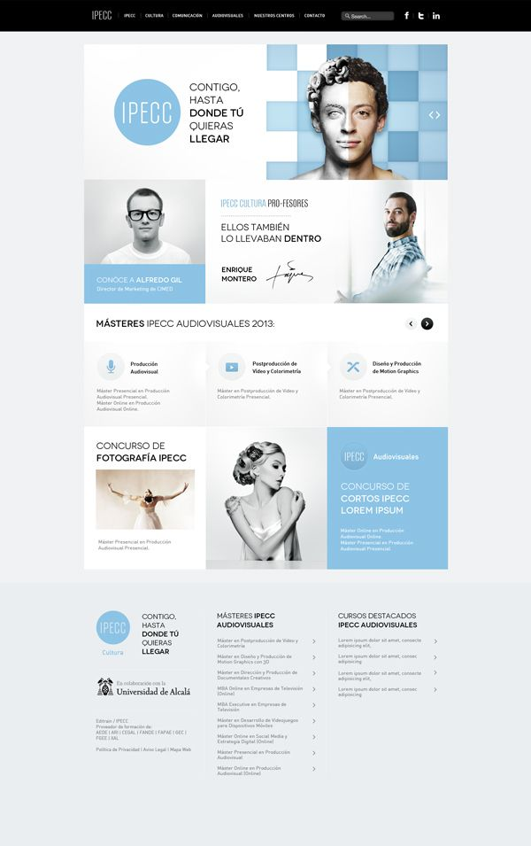 blue, white | #webdesign #it #web #design #layout #userinterface #website #webdesign < repinned by www.BlickeDeeler.de | Take a look at www.WebsiteDesign-Hamburg.de