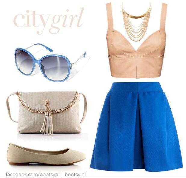 Co powiecie na taką lekką letnią stylizację? Bohaterkami są m.in. nasza torebka Clingy Chain Apricot oraz baleriny Classic Beige (http://bit.ly/1jZ1nqv). #bootsypl #pastelovo #pastele #kobaltowa #spódnica #ecru #baleriny #baletki #beige #citygirl #stylizacja #stylization #summergirl