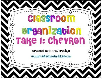 Classroom organization to help promote a positive classroom environment!