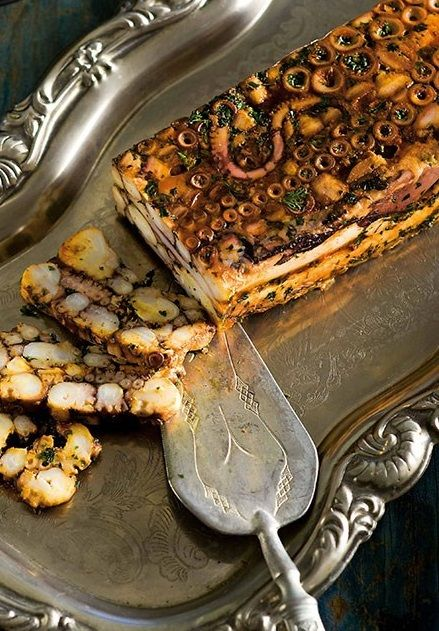 OCTOPUS TERRINE [gourmettraveller.]                                                                                                                                                                                 More