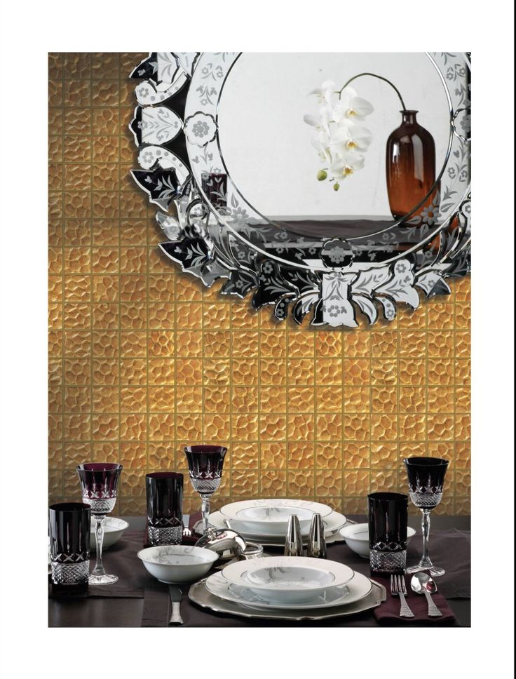 Gold Mosaic 100% Hand Made 22 K www.biondi.com