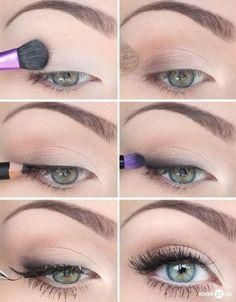 natural eye makeup for brown eyes step by step - Google Search