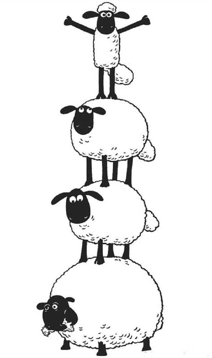 Shaun The Sheep Coloring Pages Shaun The Sheep Sheep Cartoon Sheep Illustration