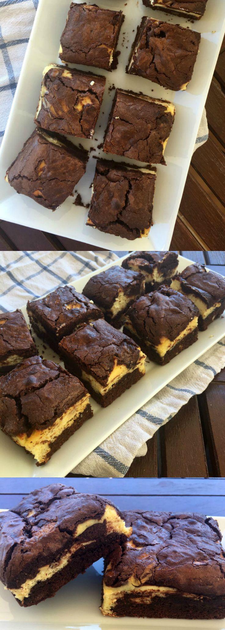 Brownie con tarta de queso: receta muy fácil   Tasty details