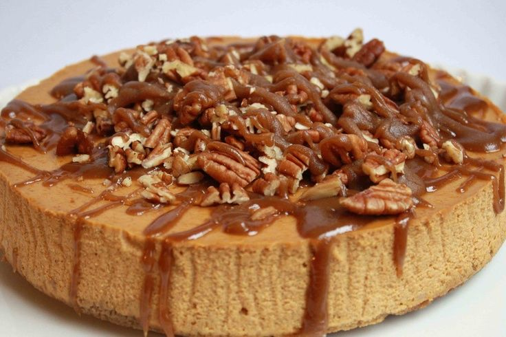 Pumpkin Cheesecake with Gingersnap/Pecan Crust and Maple Caramel ...