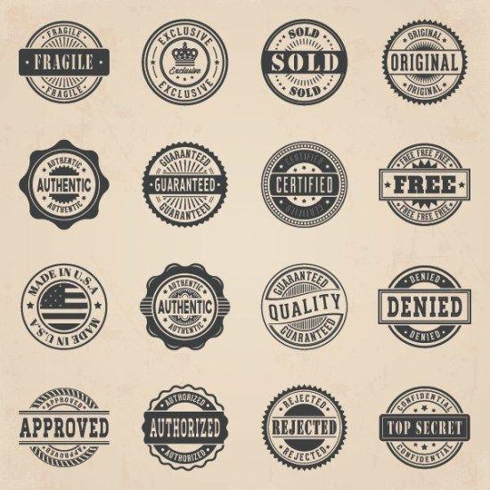Vintage vector badges