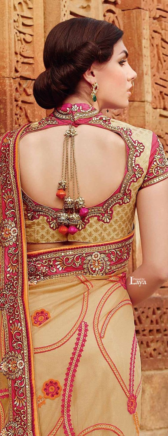 The Elegance of the saree accentuates only when it is matched with an…