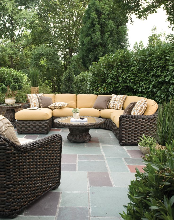 Bringing beautiful design to your backyard!   http://hauserstores.com/collections/outdoor-sectionals