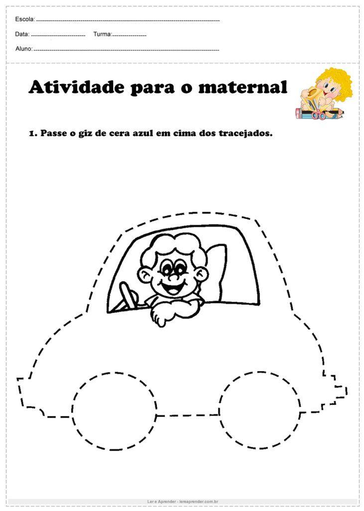 Atividade Para O Maternal Passe O Giz De Cera Atividades Para