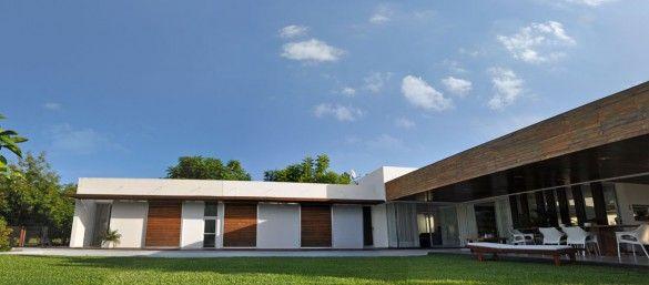 Plano de casa en forma de l de una planta de 210 78 for Planos de casas sencillas