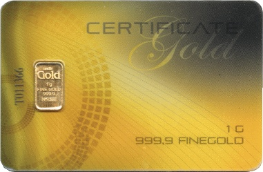 1 Gramm GOLD ca. 50 €  www.hb24.simplymaxx.de