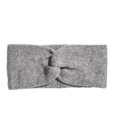 Stickat pannband | Gråmelerad | DAM | H&M SE