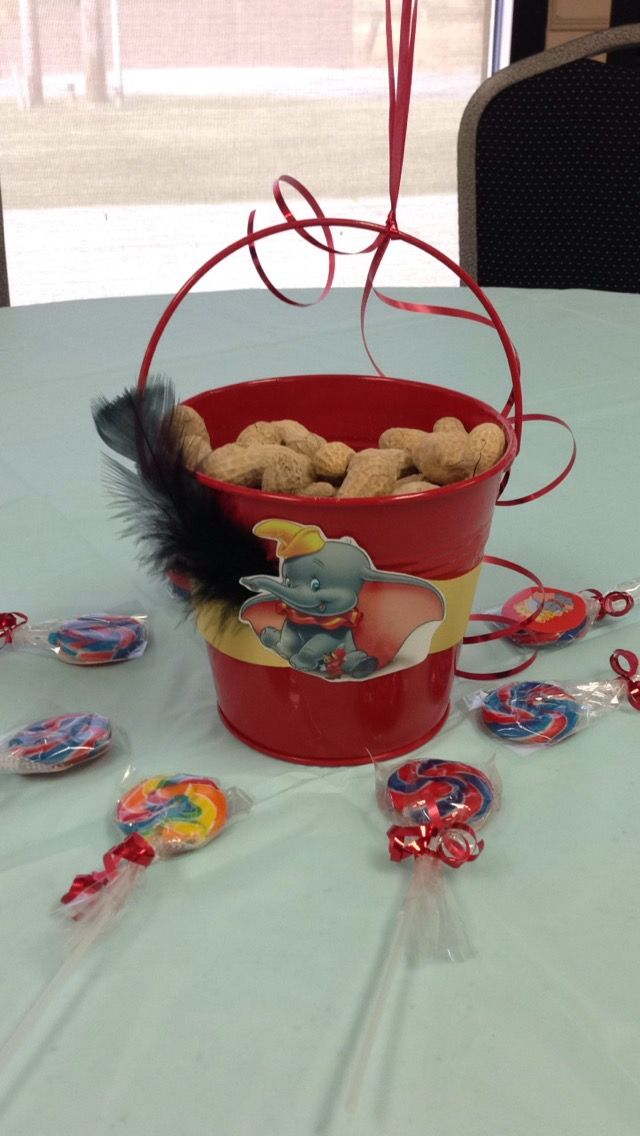 Dumbo pail centerpiece... with peanuts | BABY | Pinterest ...