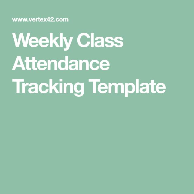 The 25+ best Attendance sheet template ideas on Pinterest - attendance tracking template