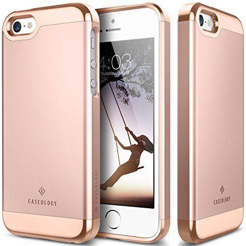 iPhone SE Case, Caseology® [Savoy Series] Chrome / Microfiber Slider Case [Rose Gold] [Premium Rose Gold] for Apple iPhone SE (2016) & iPhone 5S / 5 (2013) - Rose Gold, http://www.amazon.com/dp/B01CT73BMK/ref=cm_sw_r_pi_s_awdm_BbsHxb8ZJEXRZ