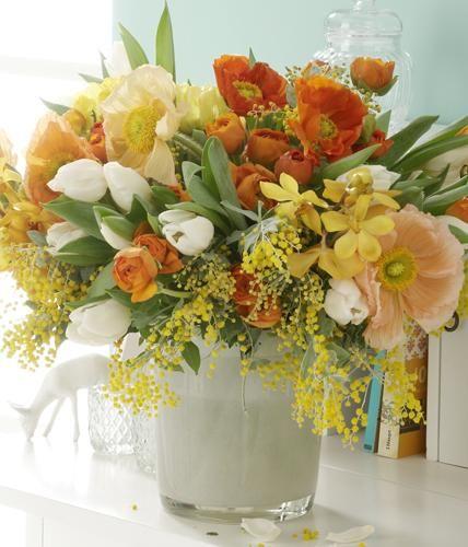 Warme und pastellige Orange- und Gelbtöne zaubern eine Wohlfühlatmosphäre.