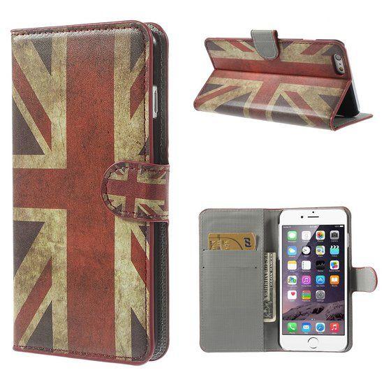 Shop4 - iPhone 6 Plus / 6s Plus Hoesje - Wallet Case Britse Vlag