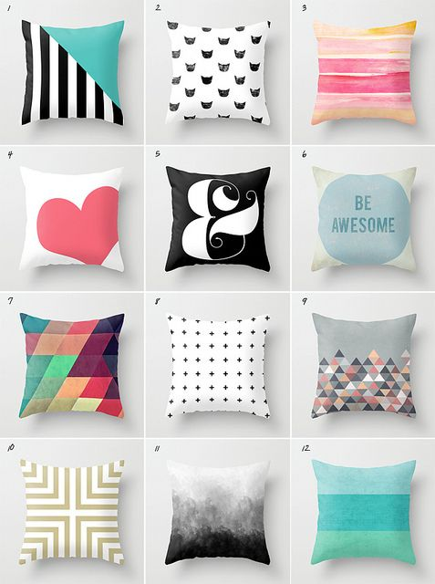 pillows from society6 shops