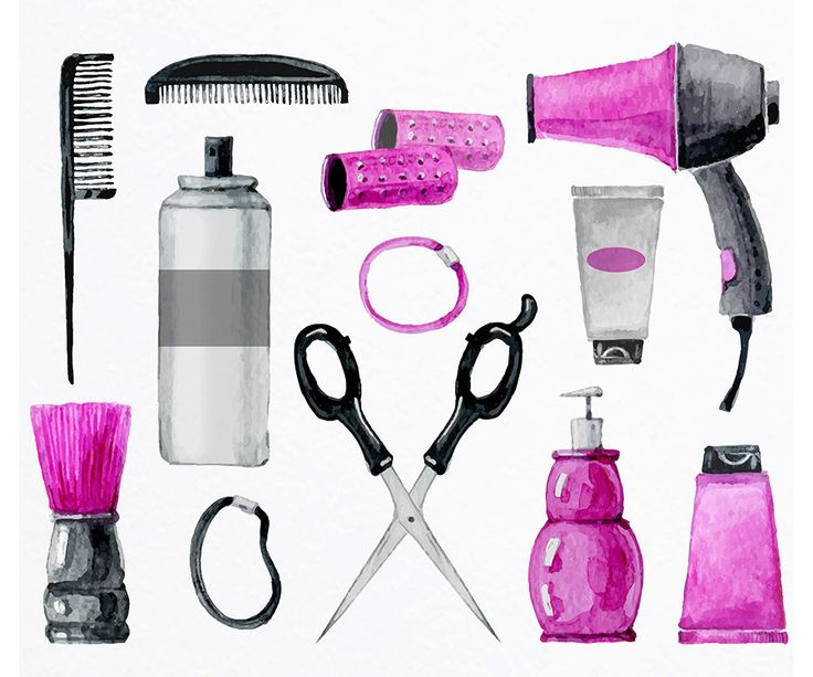 Hair Salon Clipart - Hair Tools - Hair Salon, Beauty Shop Clipart by LilWatercolorShop on Etsy https://www.etsy.com/uk/listing/285324251/hair-salon-clipart-hair-tools-hair-salon