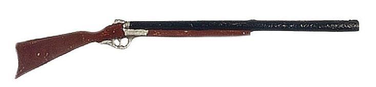 "Shotgun Double Barrel Firearm Hunting 3¼""L Hand Painted Dollhouse Miniature 1:12 #ArtisanMiniatures"