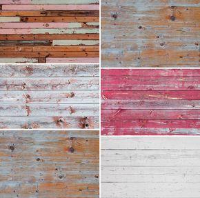 6 Texturas vintage de madera gratis