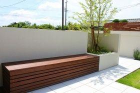 ガーデン施工事例 / ガーデン、ウッドフェンス、アウトドアリビング、シンプル、タイルテラス