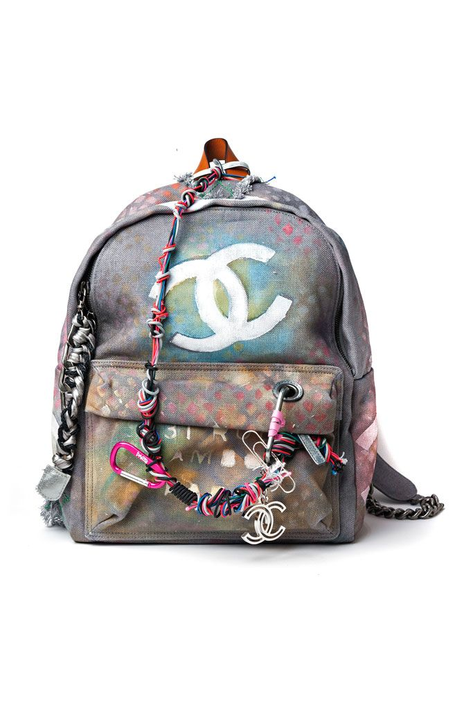 CHANEL BACKPACK TIE-DYE HIPPIE INSPIRED - PERFECT FOR COACHELLA 2014 OR WOODSTOCK MUSIC FESTIVAL - CHANEL SS14 SPRING SUMMER 2014 COLLECTION - i need @  #karinarussianpowpow  {Karina Porushkevich}