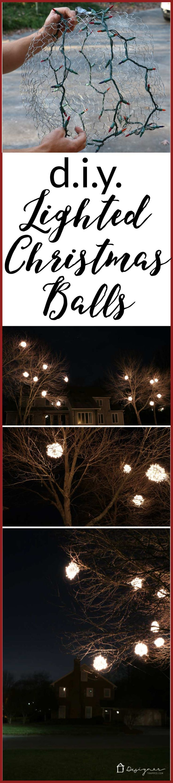WOW, WOW, WOW! Come learn how to make lighted Christmas balls with this tutorial…