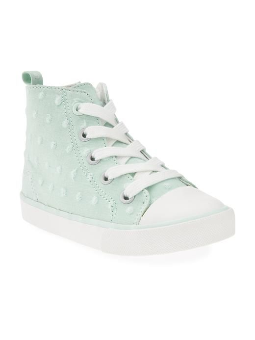 Polka-Dot High-Tops for Baby