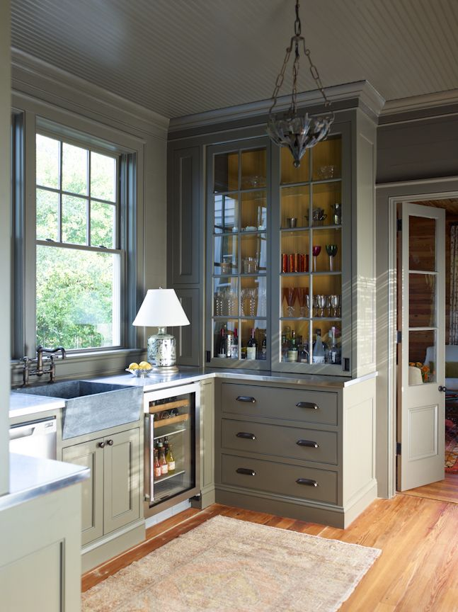 Amelia Handegan. Love this cabinet in a small kitchen. Also color of cabinets