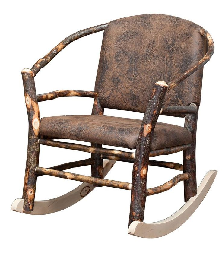 Amish Rustic Hickory Twig Hoop Rocking Chair