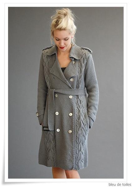 Knitted coat - Kim Hargreaves