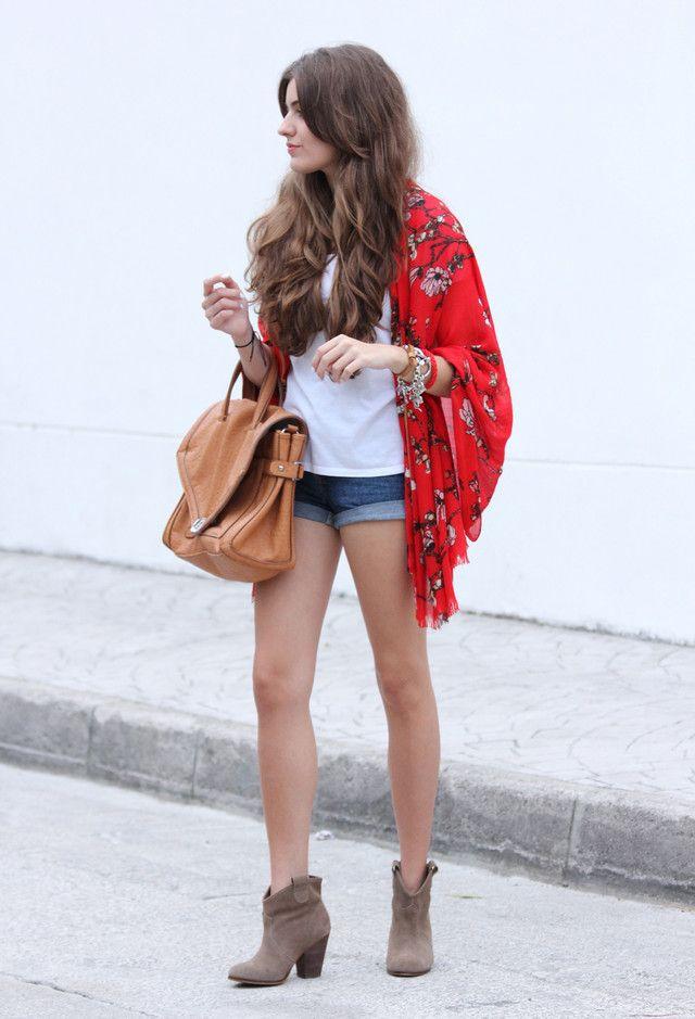 look / outfit con kimono