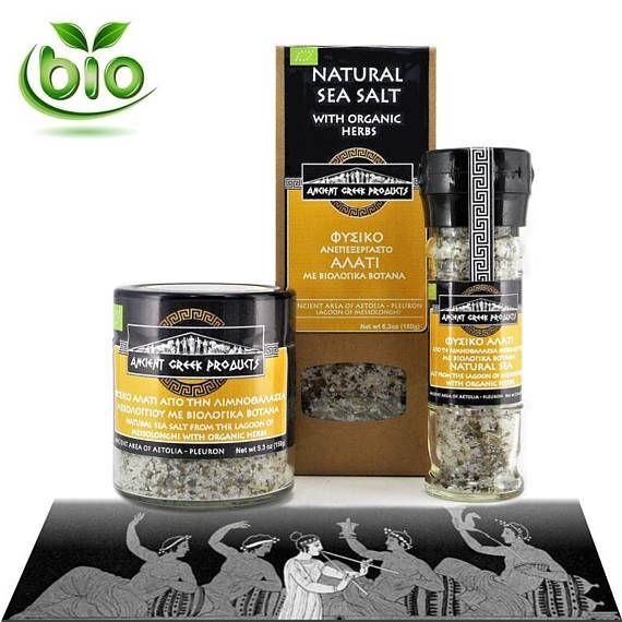Natural sea salt of Messolonghi & Oregano Basil Rosemary