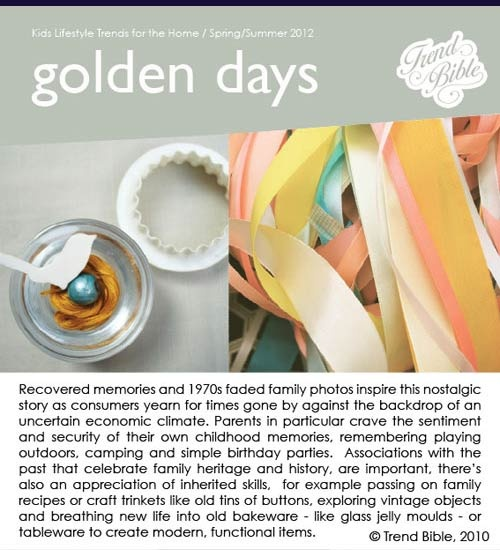 KID'S LIFESTYLE TRENDS SPRING 2012 TREND BIBLE