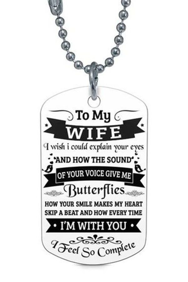 Beautiful To My Wife Necklace From Husband Best Gift For Birthday Graduation Military Wedding Wife Gifts Wife Gift Ideas For My Beautiful Wife