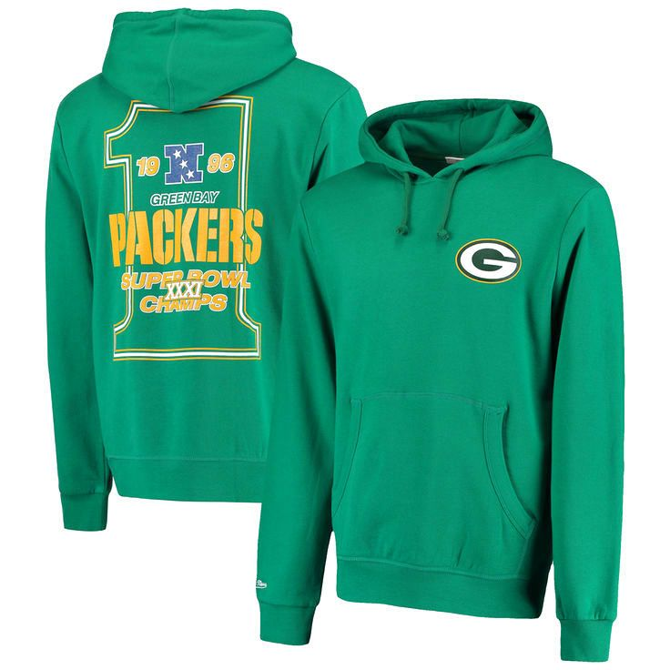 Green Bay Packers Mitchell & Ness On the Fifty Super Bowl XXXI Championship Game Hoodie - Green - $55.99