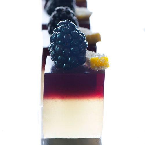 Bramble berry jelly shots...they look very similar to the berry sakura/panna cotta i made.