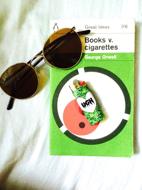 Tumblr Ugh Heart with Weed Background Bic Mini by FreshBunny