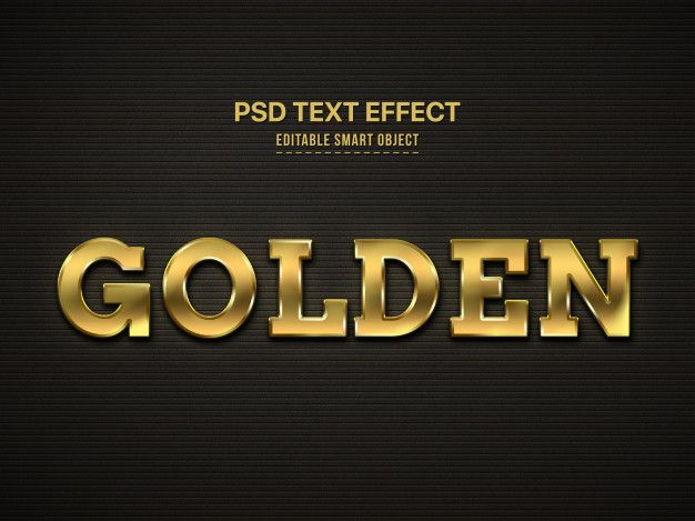 Download Golden 3d Text Style Effect For Free Text Style Texts 3d Text