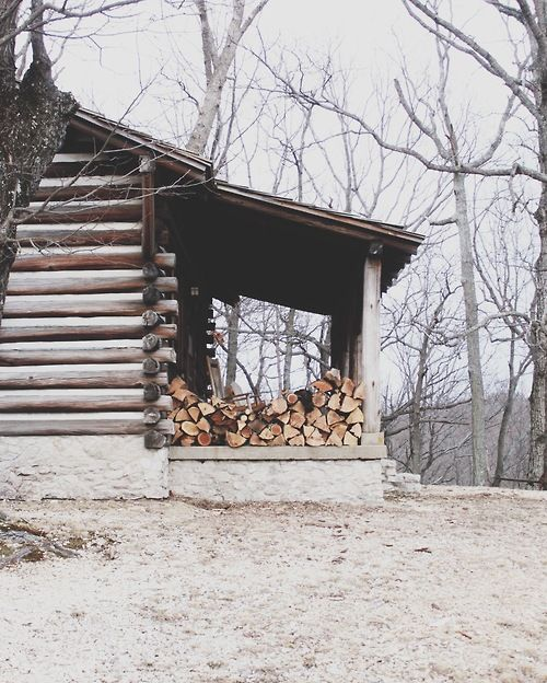 Stack of firewood for the ol' prospector's cabin! Nice open porch to view the scenery and wildlife!
