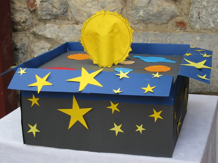 solar system handmade money box