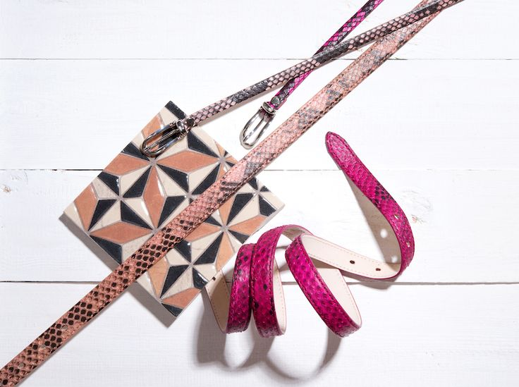Buckles & Belts - Belt/Gürtel - New Summer Collection 2016 - Pitone - Phyton Leather - magenta - fucsina - rosé - pink - Design in SWITZERLAND made in ITALY https://www.facebook.com/BucklesBelts