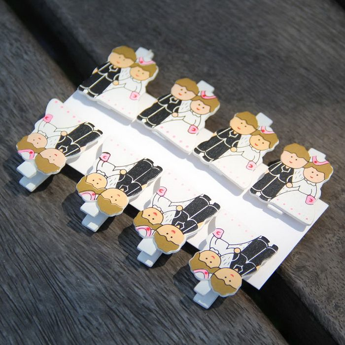 Wooden Wedding Couple Paper Photo Clips Wood Clothespins Party Decoration Wood Crafts 8Pcs /Lot -- Read more reviews of the product by visiting the link on the image.