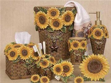 Sunflowers Shower Curtain Accessories!